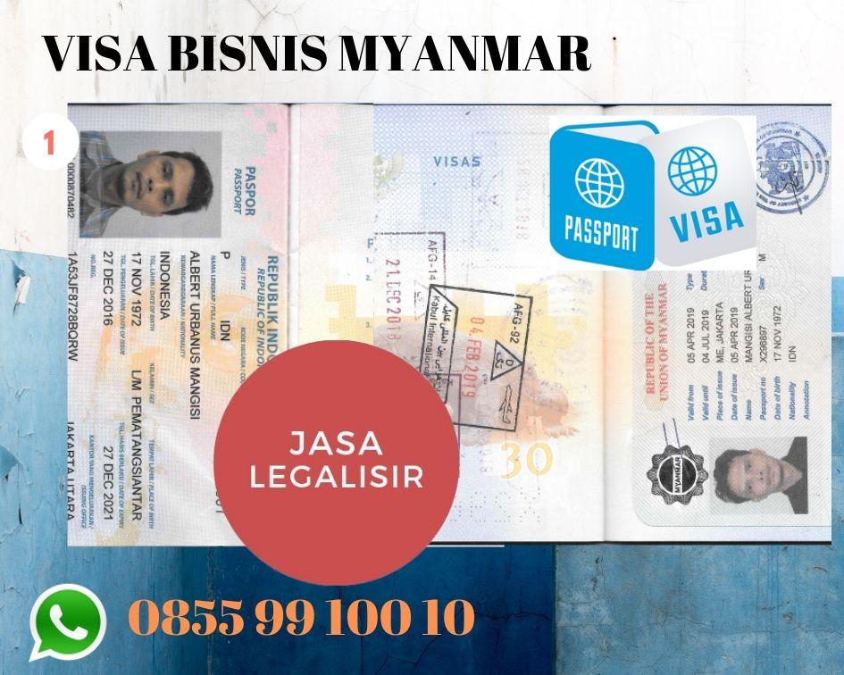 VISA BISNIS MYANMAR | JASALEGALISIR | 08559910010