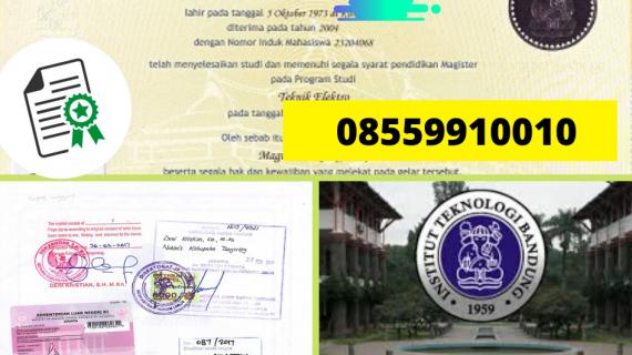 Legalisir Ijazah Institut Teknologi Bandung Di Kemenristek Dikti || 08559910010