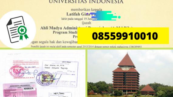 JasaLegalisir Ijazah Universitas Indonesia Di Kemenristek Dikti || 08559910010