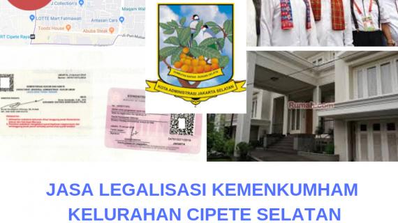 Jasa Legalisir KEMENKUMHAM di Cipete Selatan || 08559910010