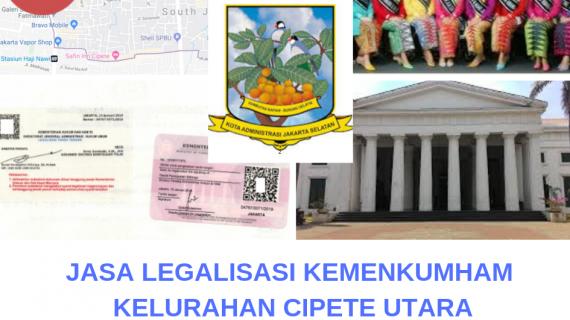 Jasa Legalisir KEMENKUMHAM di Cipete Utara || 08559910010