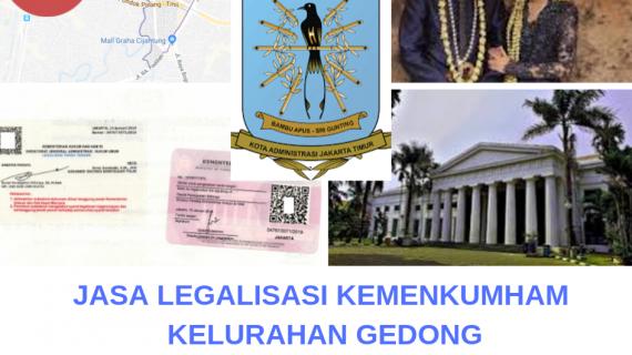 Jasa Legalisir KEMENKUMHAM di Gedong    08559910010