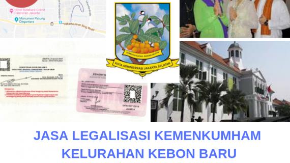 Jasa Legalisir KEMENKUMHAM di Kebon Baru    08559910010
