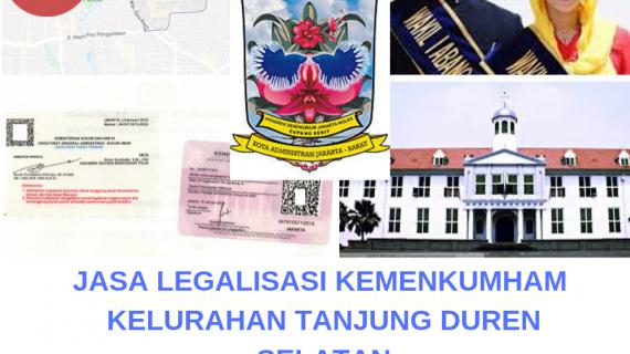 Jasa Legalisir KEMENKUMHAM di Tanjung Duren Selatan || 08559910010