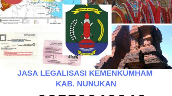 Jasa Legalisir KEMENKUMHAM di Kabupaten Nunukan || 08559910010
