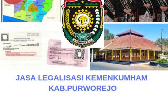 Jasa Legalisir KEMENKUMHAM di Kabupaten Purworejo || 08559910010