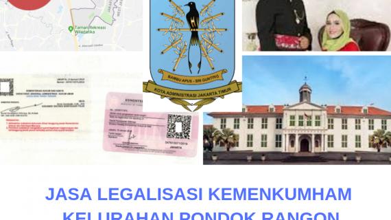 Jasa Legalisir KEMENKUMHAM di Pondok Rangon || 08559910010