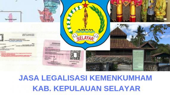 Jasa Legalisir KEMENKUMHAM di Kabupaten Kepulauan Selayar