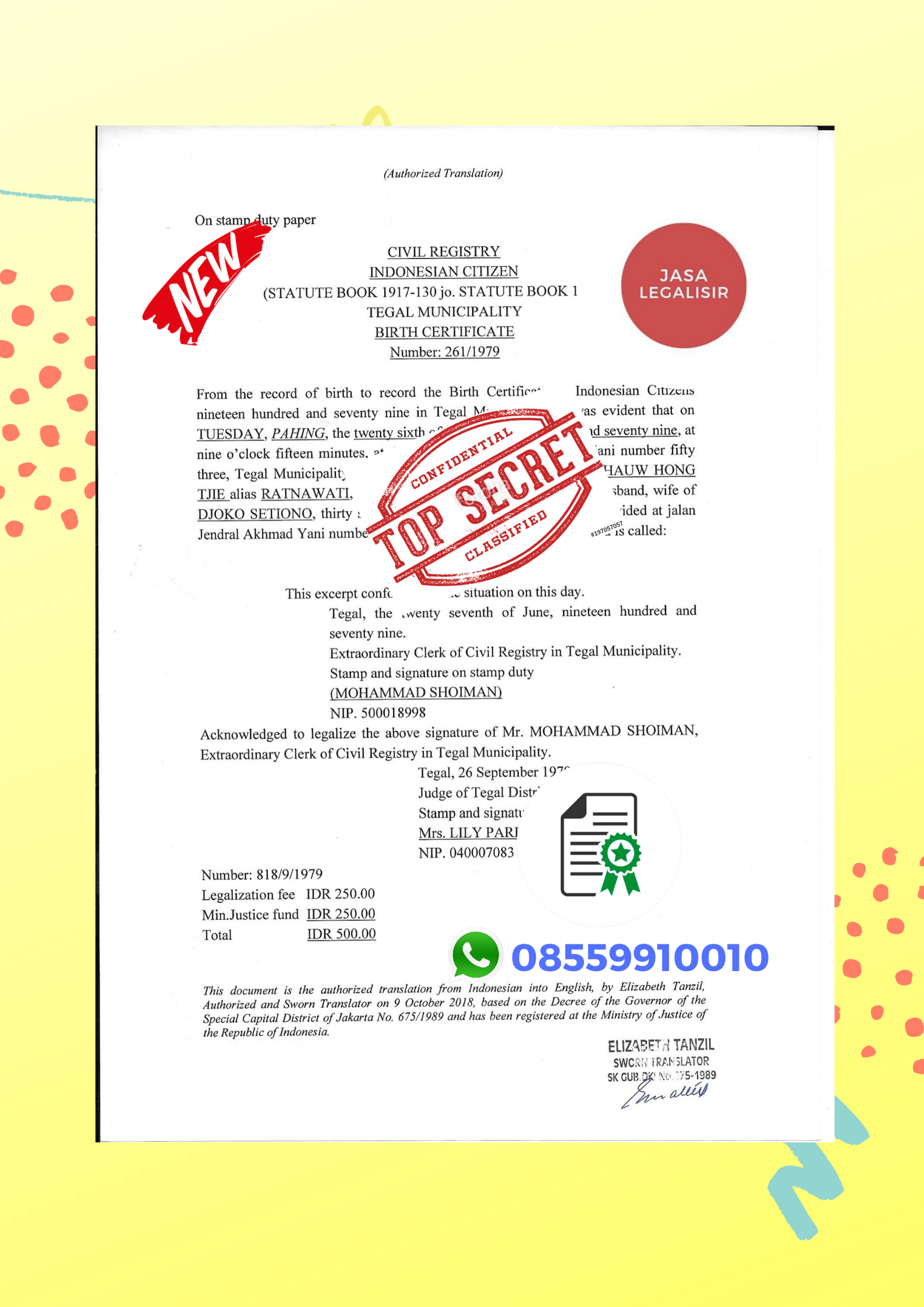 Jasa Legalisir Turki || 08559910010