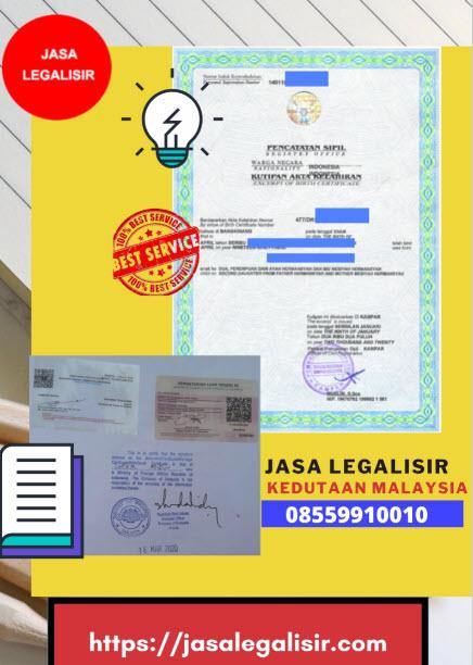 Jasa Legalisir Di Kedutaan Malaysia || 08559910010 || Malaysia Embassy