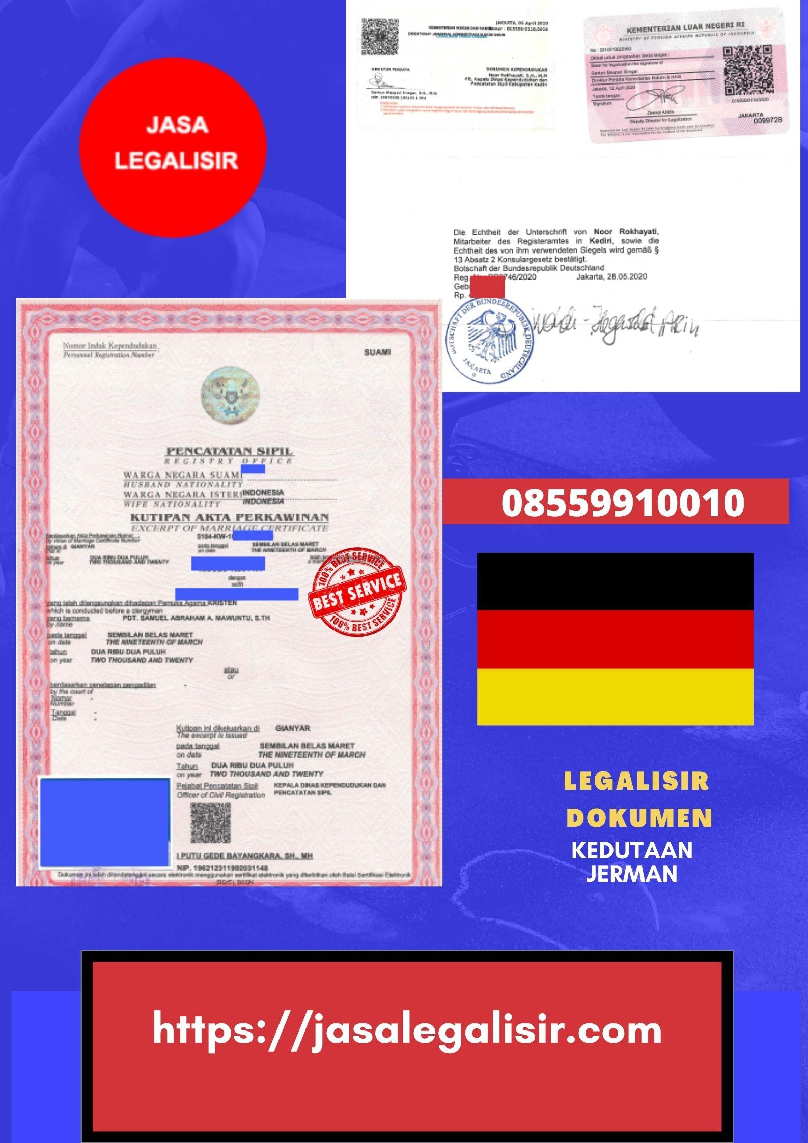 Jasa Legalisir Di Kedutaan Jerman || 08559910010 || Germany Embassy