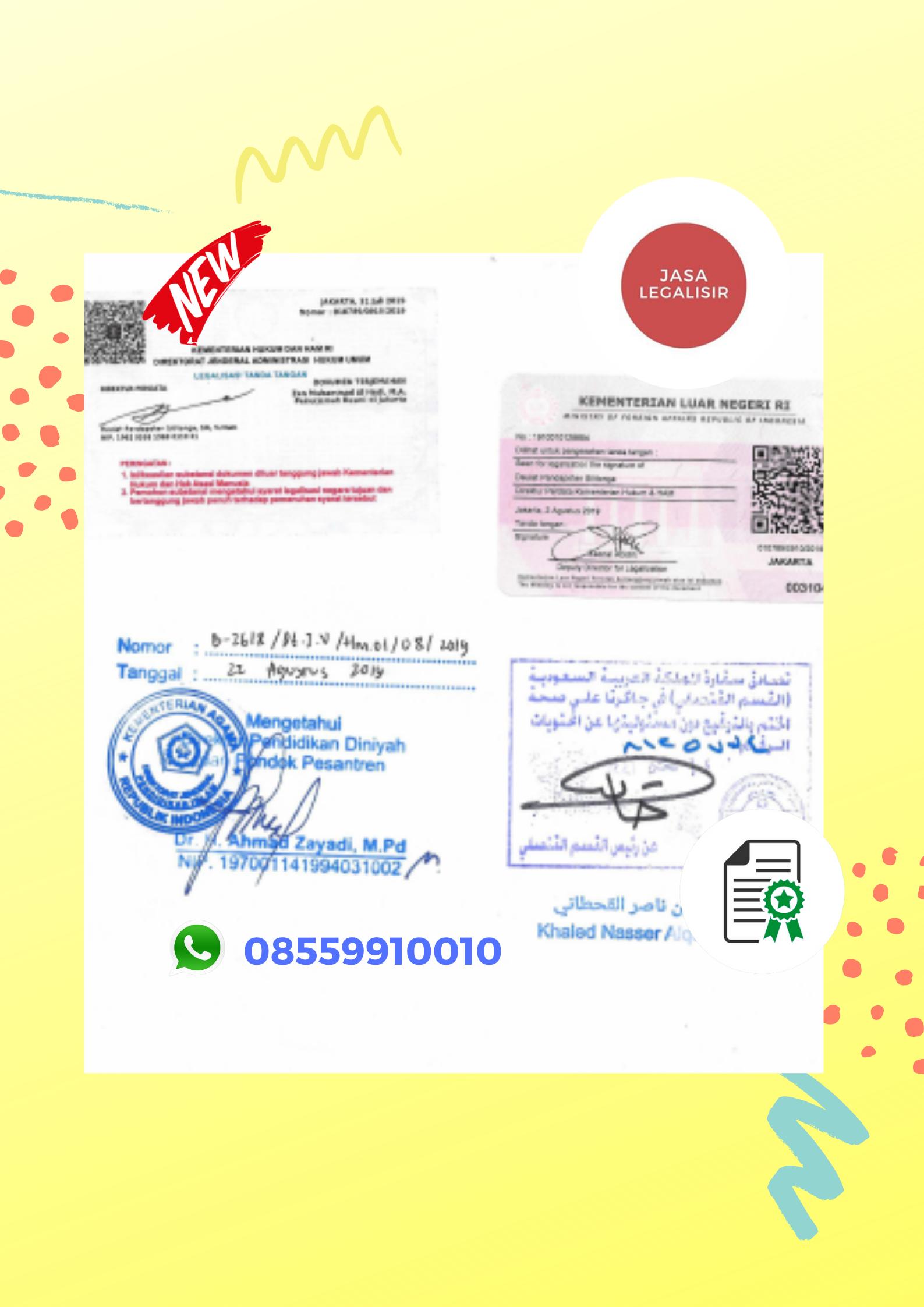 Jasa Legalisasi Saudi Arabia || 08559910010