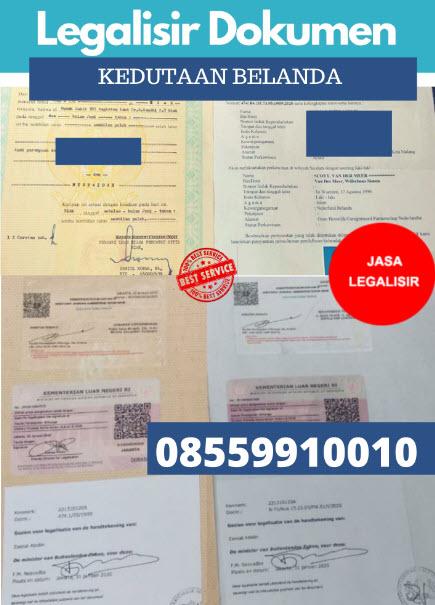 Jasa Legalisir Dokumen Di Kedutaan Belanda || 08559910010