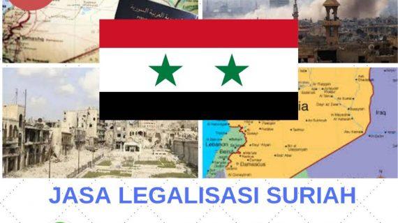Jasa Legalisasi Suriah    08559910010