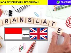 JASA PENERJEMAH TERSUMPAH INDONESIA - INGGRIS | 08559910010