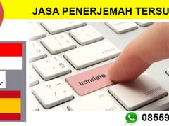 JASA PENERJEMAH TERSUMPAH INDONESIA - SPANYOL | 08559910010