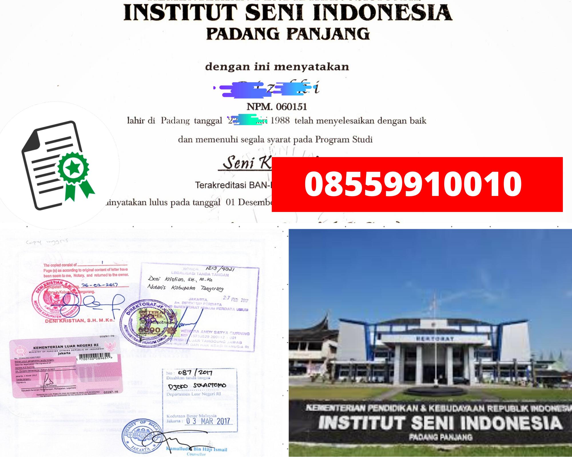 Legalisir Ijazah Institut Seni Indonesia Di Kemenristek Dikti || 08559910010
