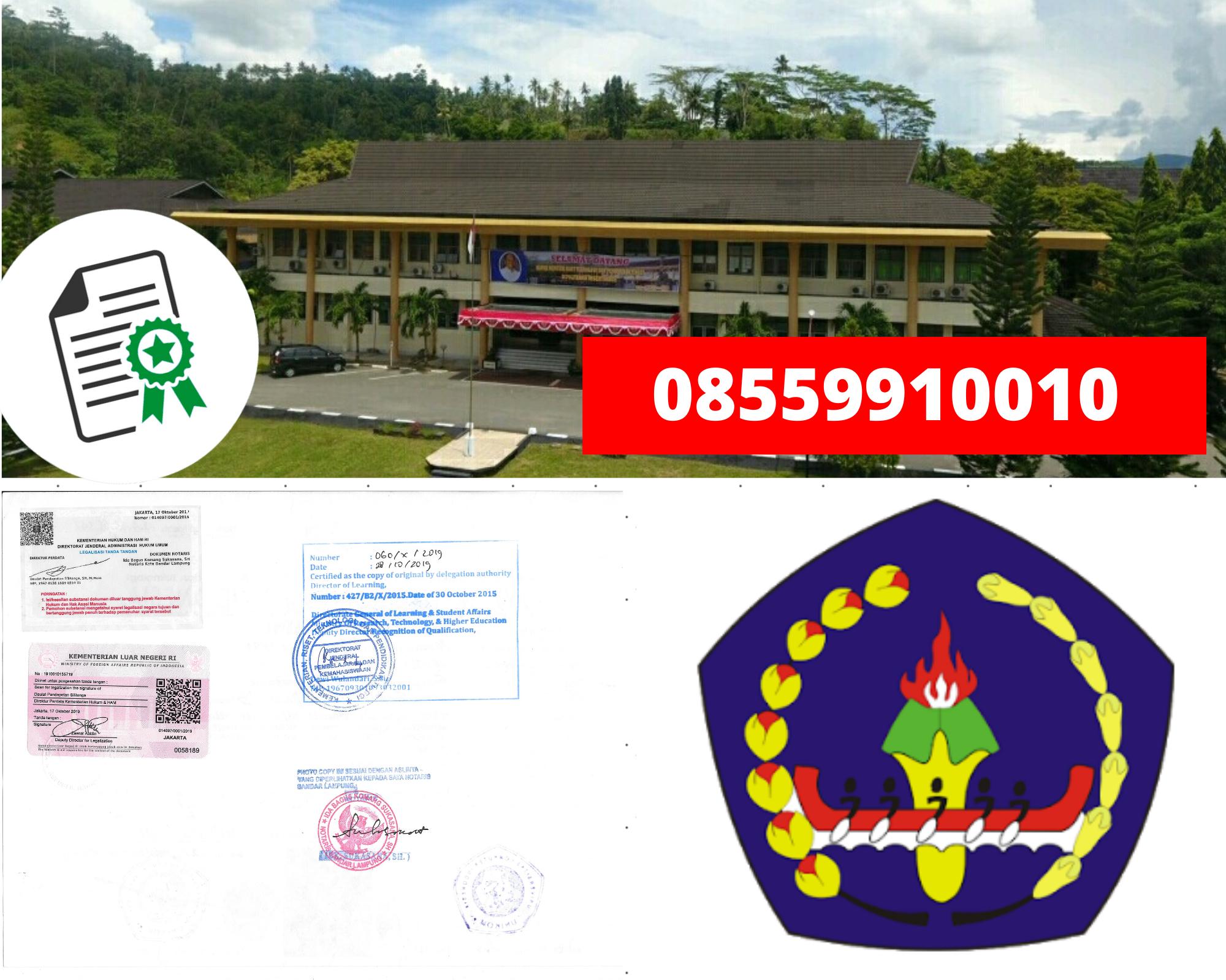 Legalisir politeknik Negeri Ambon Di Kemenristek Dikti || 08559910010