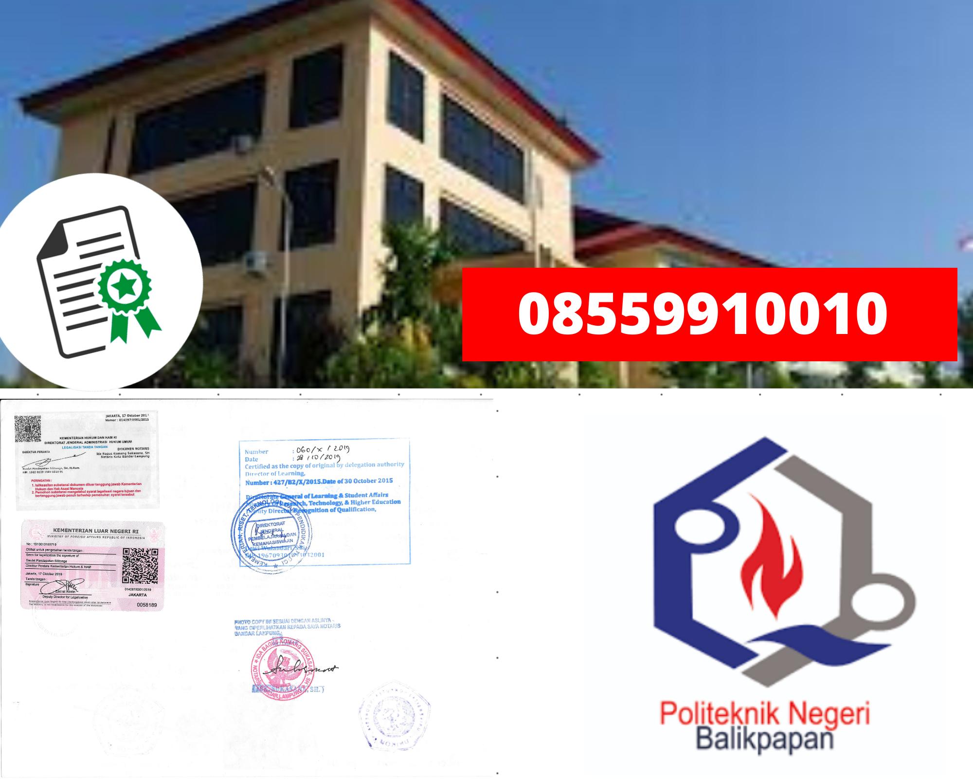 Legalisir politeknik Negeri Balikpapan Di Kemenristek Dikti || 08559910010