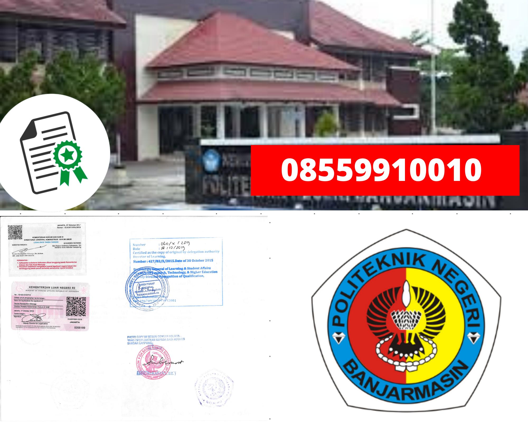 Legalisir politeknik Negeri Banjamasin Di Kemenristek Dikti || 08559910010