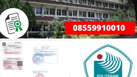 Jasa Legalisir Ijazah Politeknik Negeri Jakarta Di Kemenristek Dikti || 08559910010