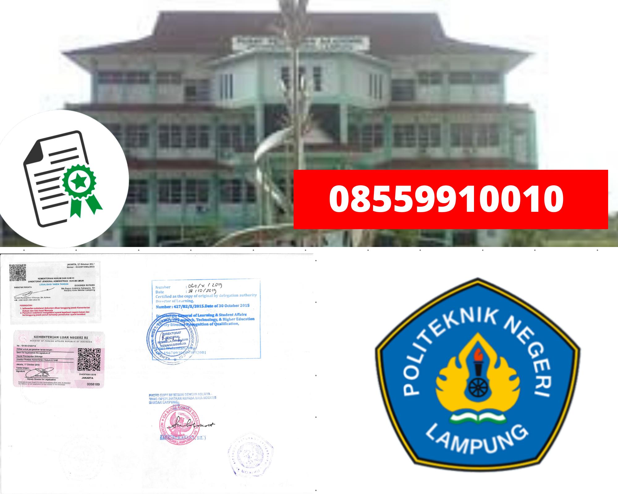 Legalisir iteknik negeri Lampung Di Kemenristek Dikti || 08559910010