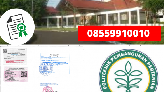 Jasa Legalisir Ijazah Politeknik Pembangunan Pertanian Gowa Di Kemenristek Dikti || 08559910010