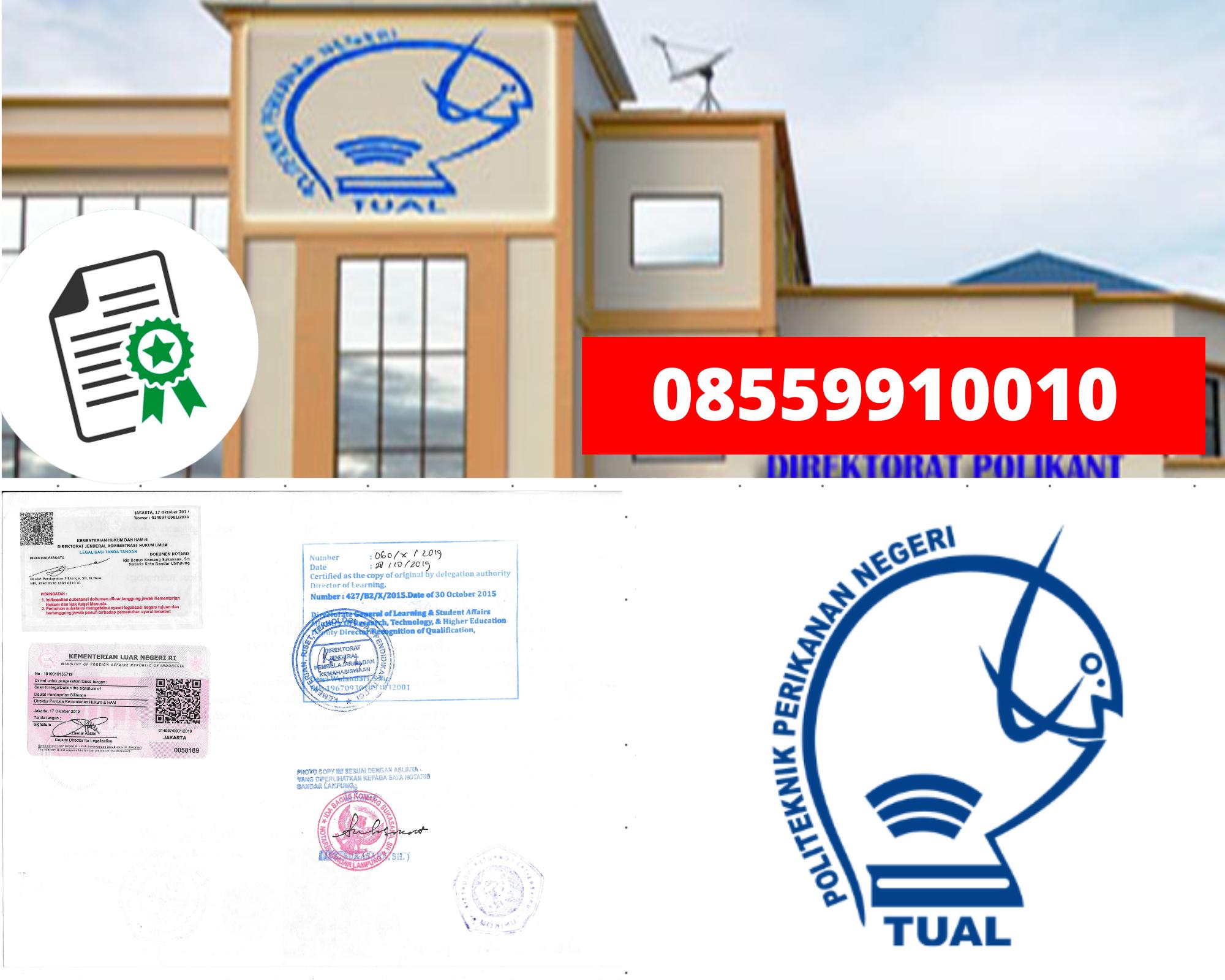 Legalisir politeknik Perikanan Negeri Tual Di Kemenristek Dikti || 08559910010