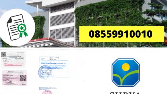 Jasa Legalisir Ijazah Universitas Surya Di Kemenristek Dikti    08559910010