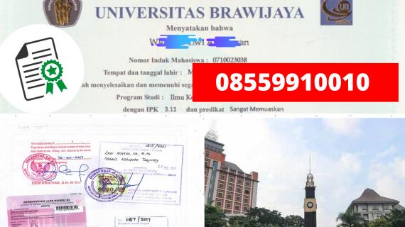 Jasa Legalisir Ijazah Universitas Brawijaya Di Kemenristek Dikti || 08559910010