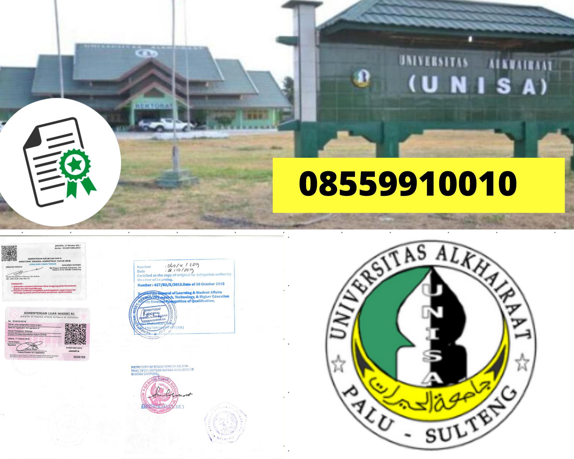 Legalisir Ijazah Universitas Alkhairaat Di Kemenristek Dikti || 08559910010