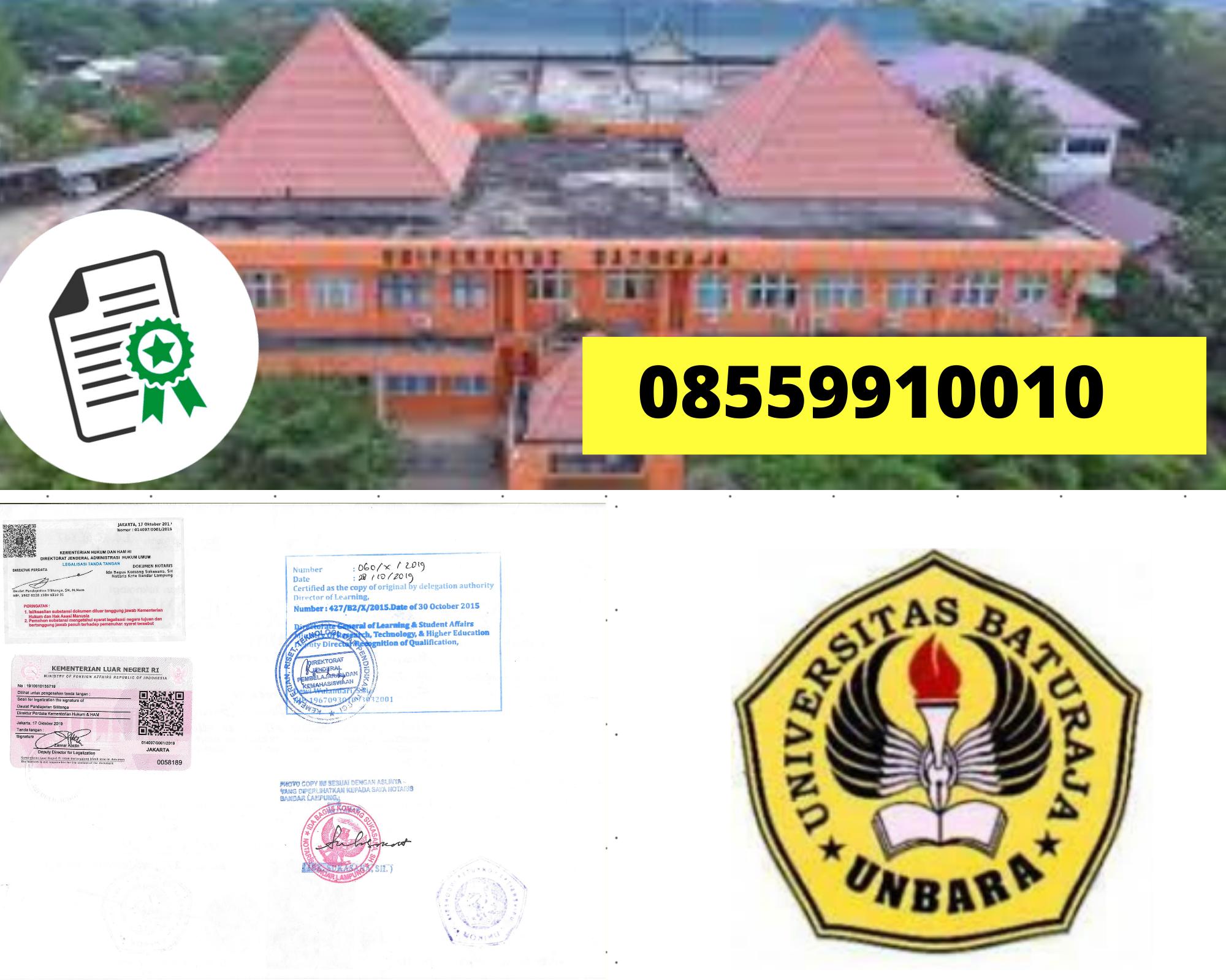 Legalisir Ijazah Universitas Baturaja Di Kemenristek Dikti || 08559910010