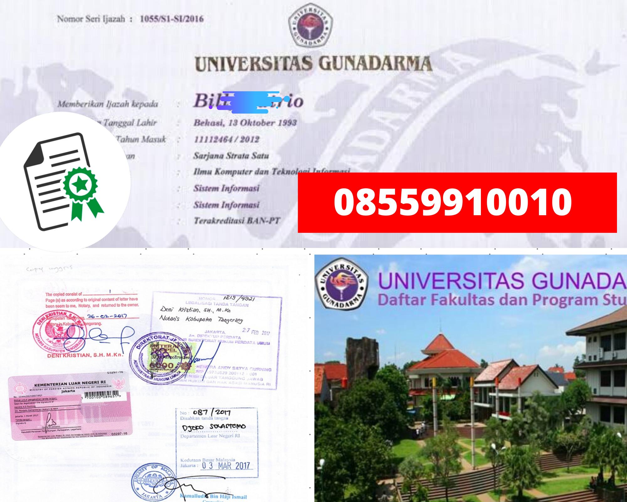 Legalisir Ijazah Universitas Gunadarma Di Kemenristek Dikti || 08559910010