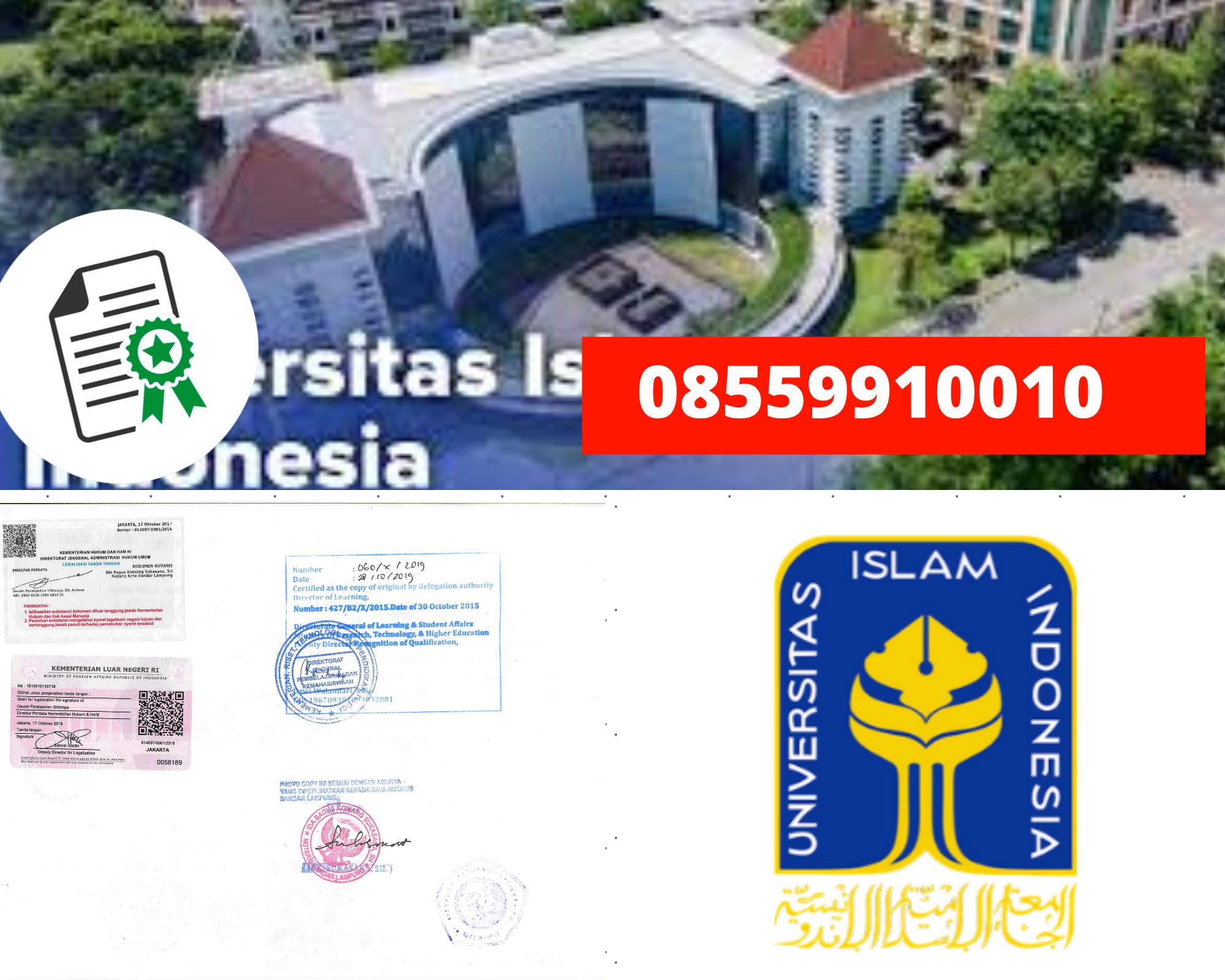 Legalisir Ijazah Universitas Islam Indonesia Di Kemenristek Dikti || 08559910010