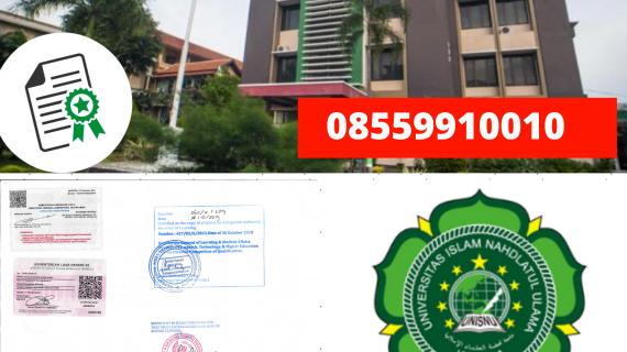 Jasa Legalisir Ijazah Universitas Islam Nahdlatul Ulama Di Kemenristek Dikti || 08559910010