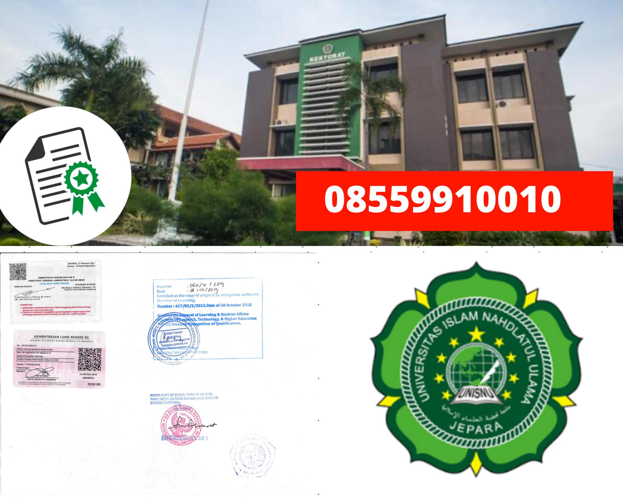 Legalisir Ijazah Universitas Islam Nahdlatul Ulama Di Kemenristek Dikti || 08559910010