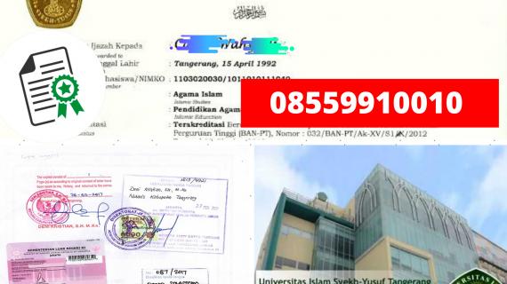 Jasa Legalisir Ijazah Universitas Islam Syekh-Yusuf Di Kemenristek Dikti || 08559910010