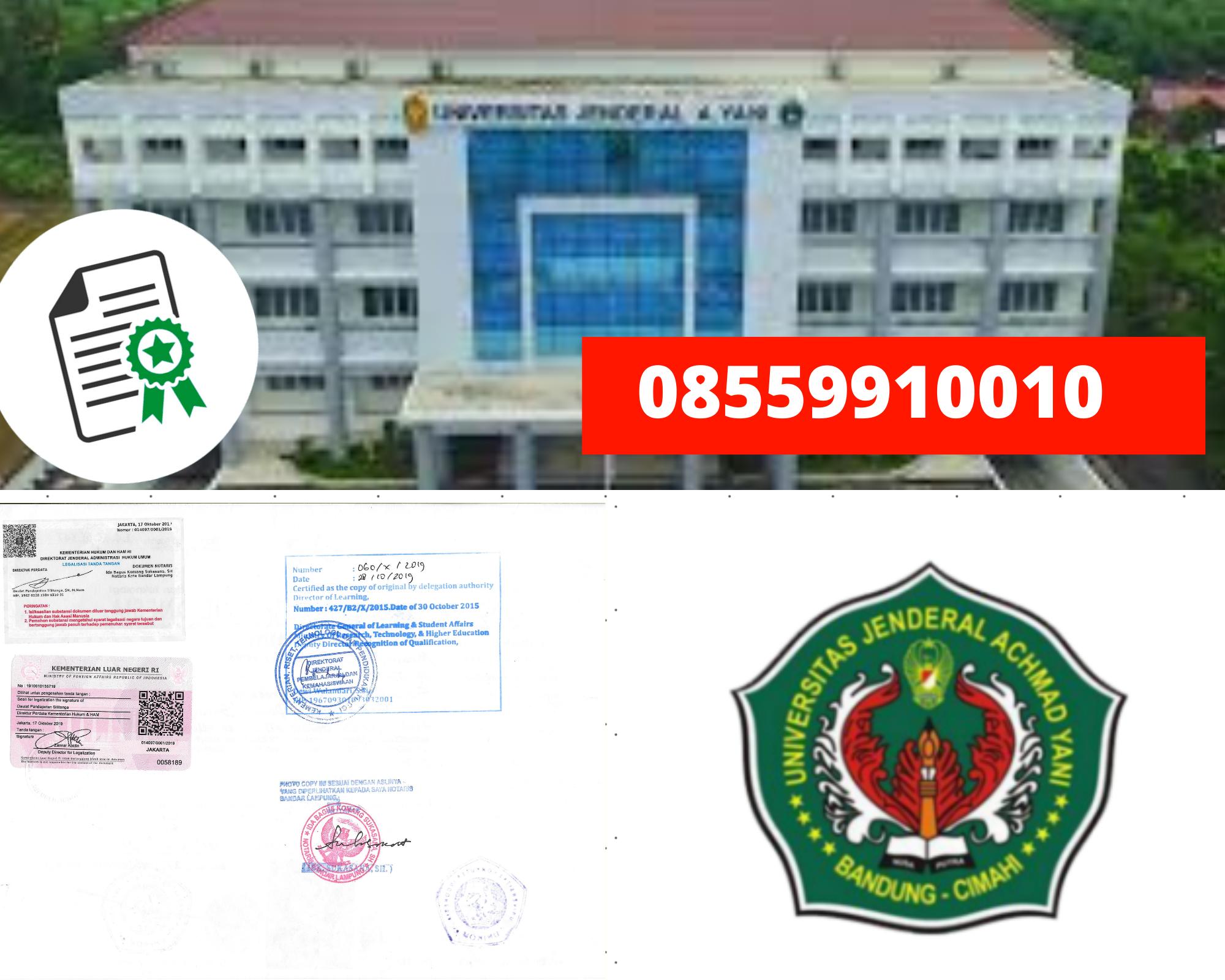 Legalisir Ijazah Universitas Jenderal Achmad Yani Di Kemenristek Dikti || 08559910010
