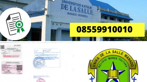 Jasa Legalisir Ijazah Universitas Katolik De La Salle Manado Di Kemenristek Dikti || 08559910010