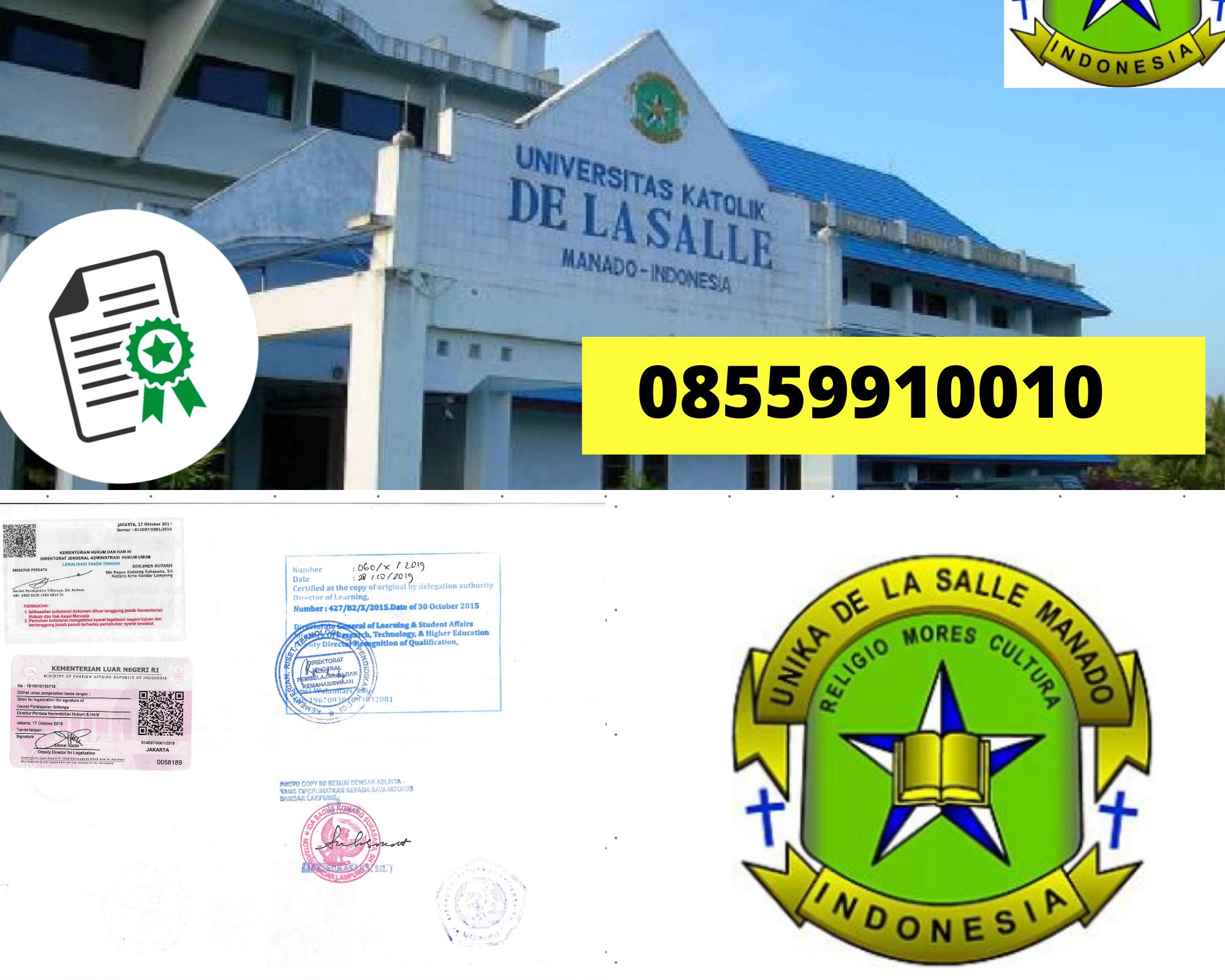 Legalisir Ijazah Universitas Katolik De La Salle Manado Di Kemenristek Dikti || 08559910010