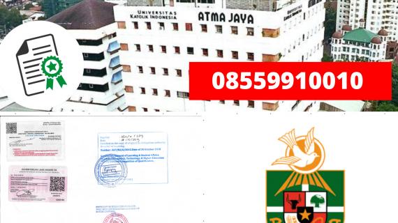 Jasa Legalisir Ijazah Universitas Katolik Indonesia Atma Jaya Di Kemenristek Dikti || 08559910010