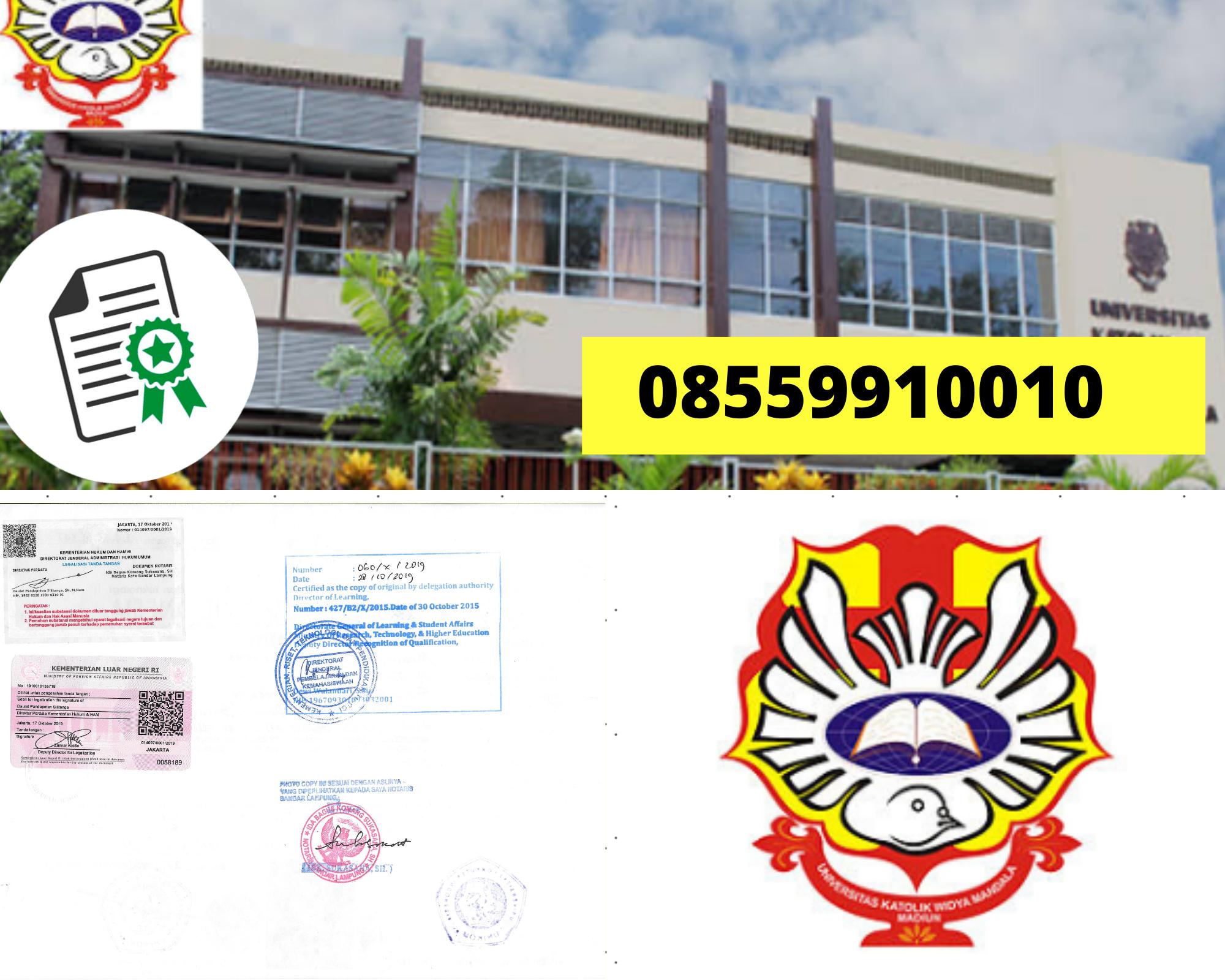 Legalisir Ijazah Universitas Katolik Widya Mandala Madiun Di Kemenristek Dikti || 08559910010