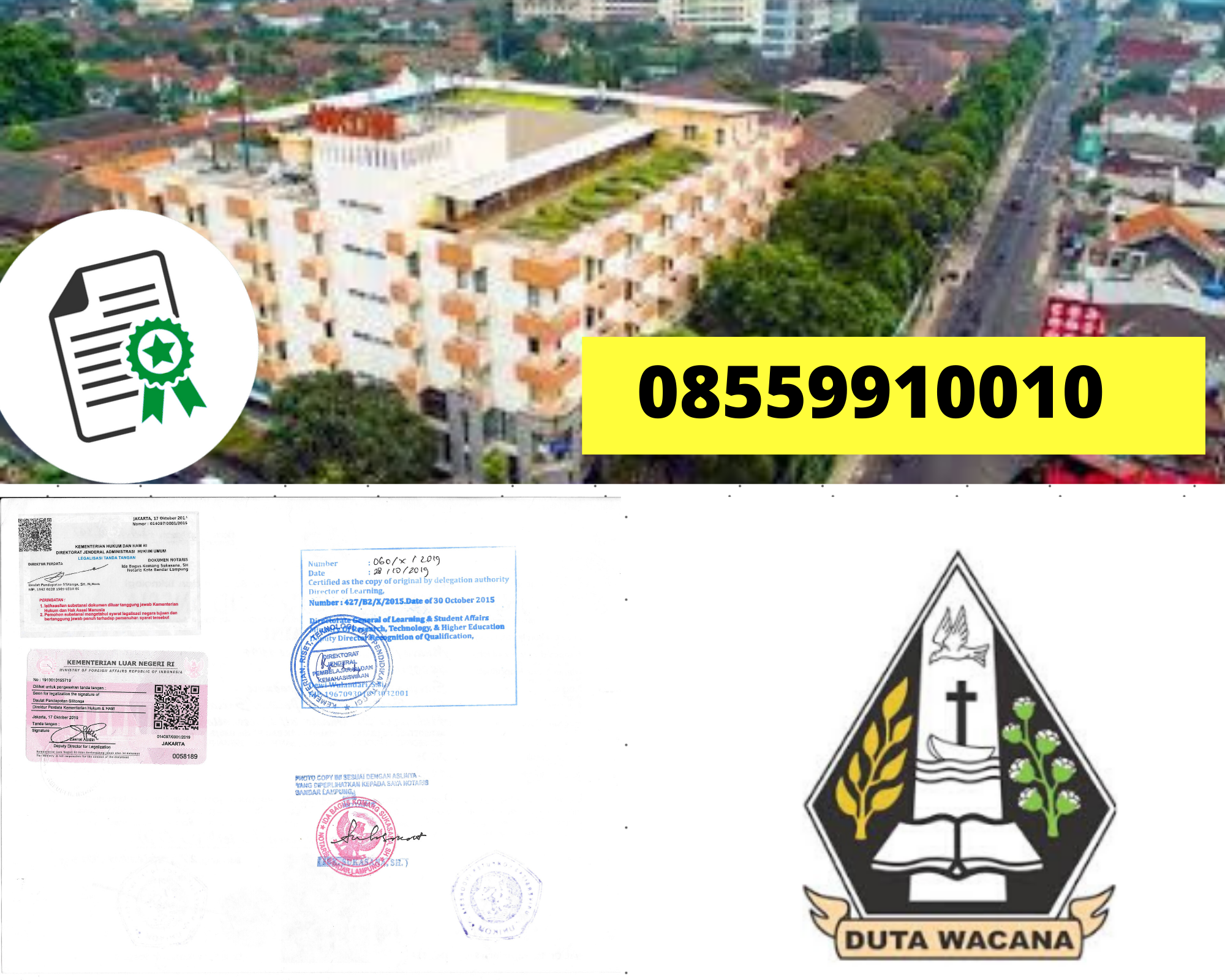 Legalisir Ijazah Universitas Kristen Duta Wacana Di Kemenristek Dikti || 08559910010