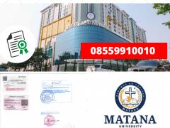 Legalisir Ijazah Universitas Matana Di Kemenristek Dikti    08559910010