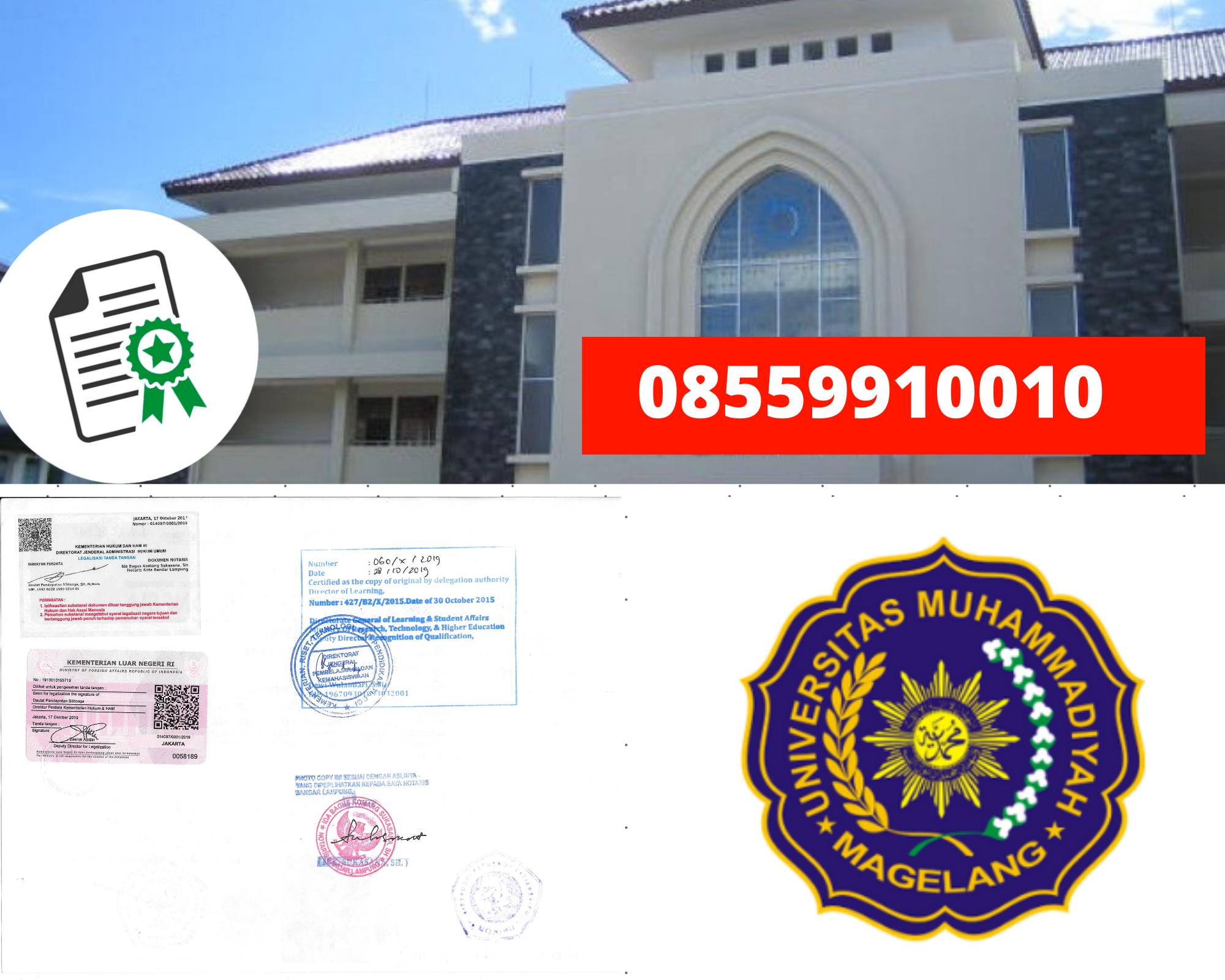 Legalisir Ijazah Universitas Muhammadiyah Magelang Di Kemenristek Dikti || 08559910010