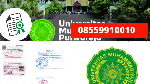 Jasa Legalisir Ijazah Universitas Muhammadiyah Purworejo Di Kemenristek Dikti || 08559910010