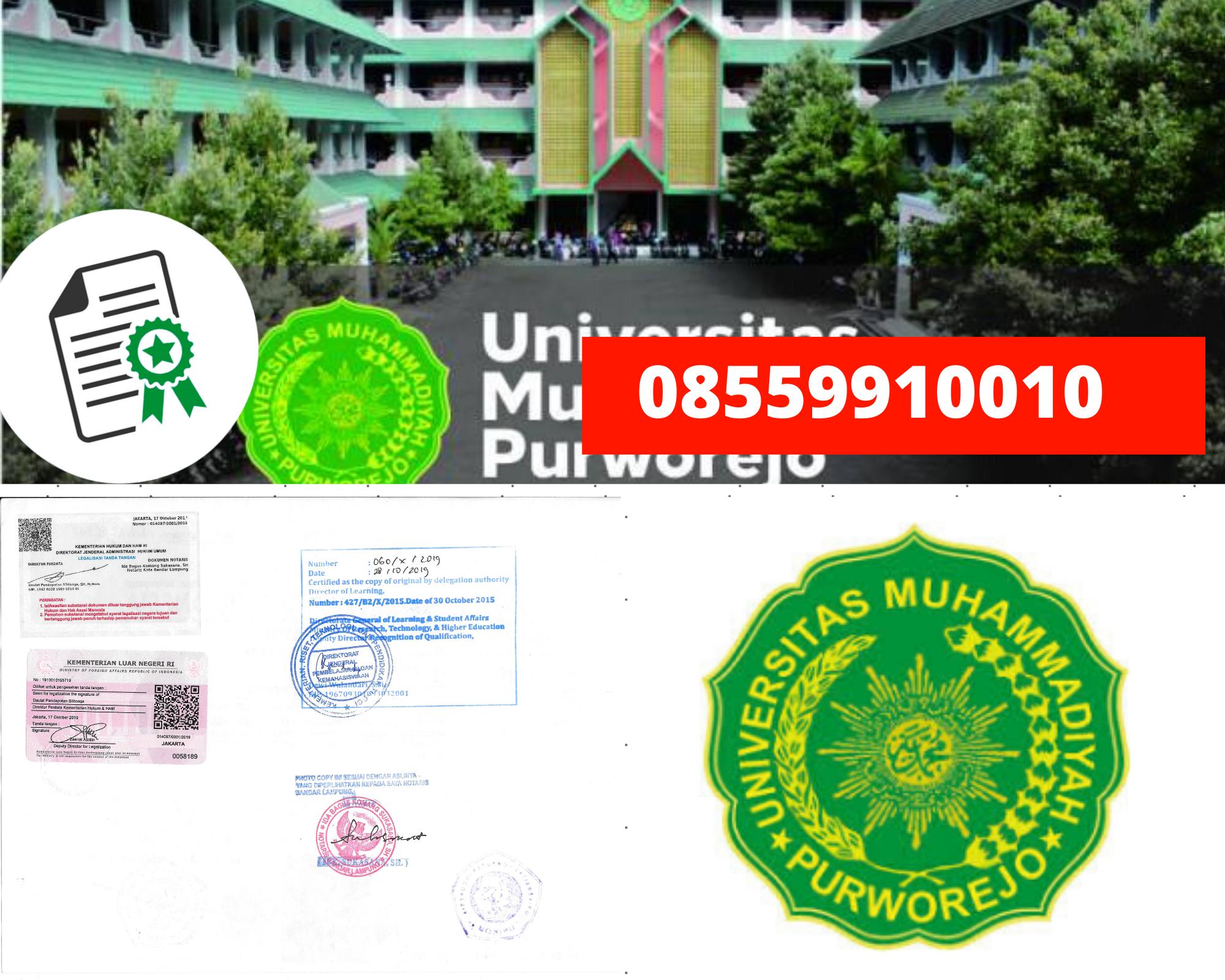 Legalisir Ijazah Universitas Muhammadiyah Purworejo Di Kemenristek Dikti || 08559910010