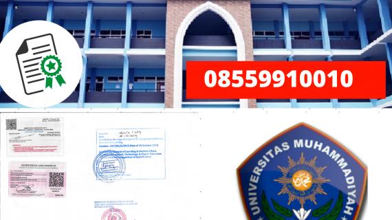Jasa Legalisir Ijazah Universitas Muhammadiyah Sukabumi Di Kemenristek Dikti || 08559910010