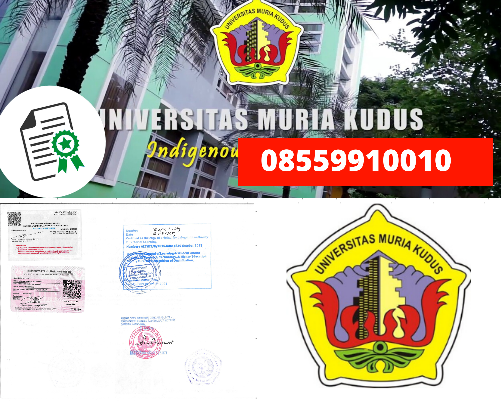 Legalisir Ijazah Universitas Muria Kudus Di Kemenristek Dikti || 08559910010