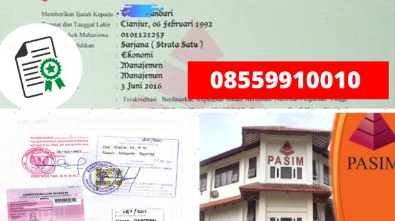 Jasa Legalisir Ijazah Universitas Nasional Pasim Di Kemenristek Dikti || 08559910010